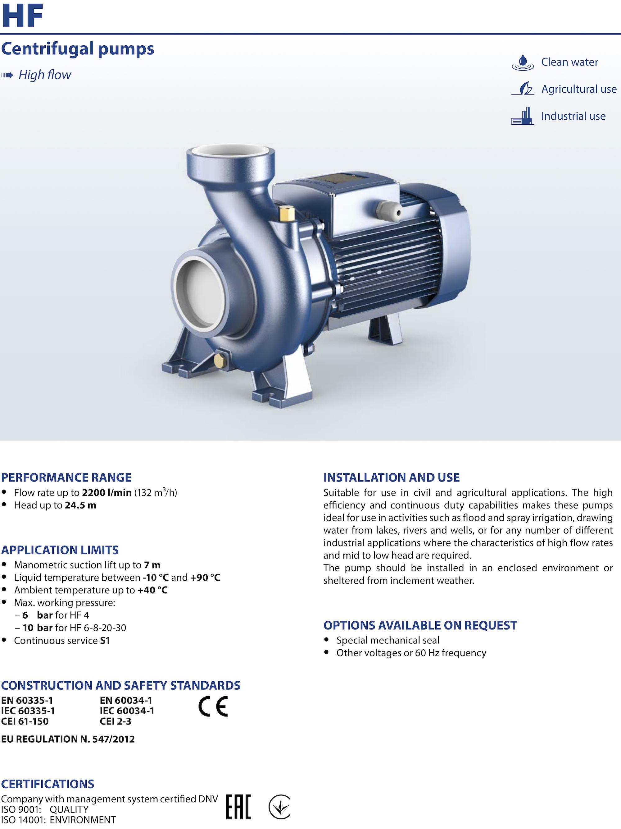 pedrollo centrifugal