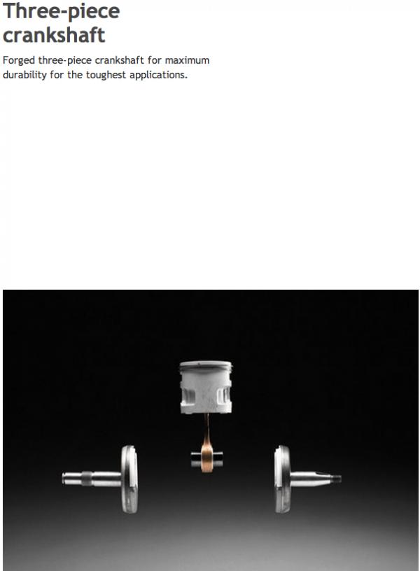 Husqvarna 3 piece crankshaft-1a