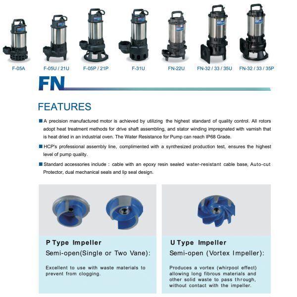 HCP Submersible Sewage Pump F Series-1