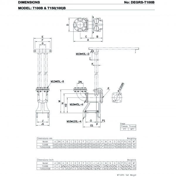HCP T100B, T150(100)B