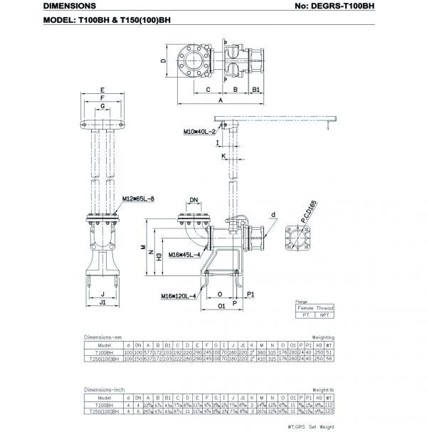 HCP T100BH, 150(100)BH