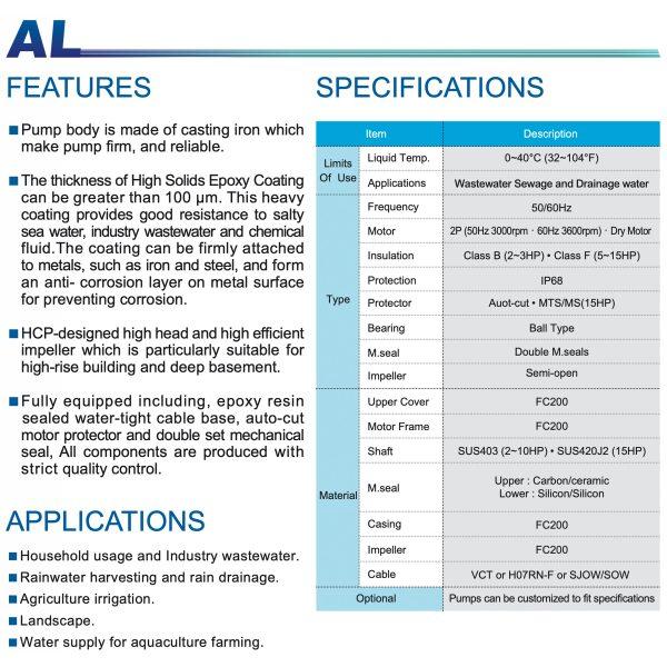 HCP Waste Water Pump AL-1