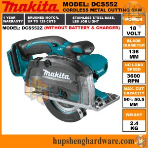 Makita DCS552Z-1a