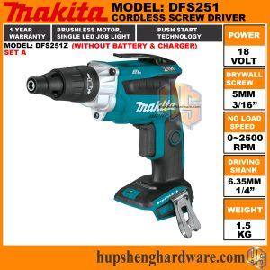 Makita DFS251Z-1a