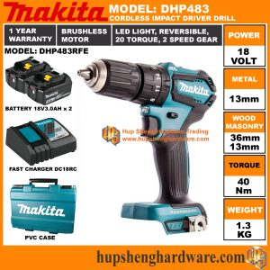 Makita DHP483RFEa