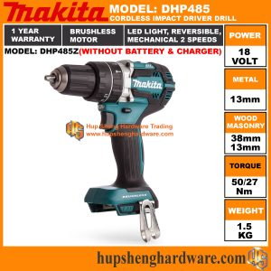 Makita DHP485Za