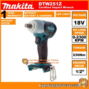 Makita DTW251Z-1a