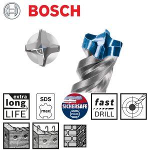 Bosch SDS Max 8X Concrete Drill Bit-1