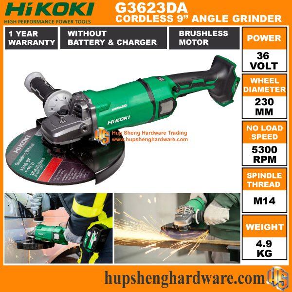 Hikoki G3623DA 9 Cordless Angle Grinder-1a