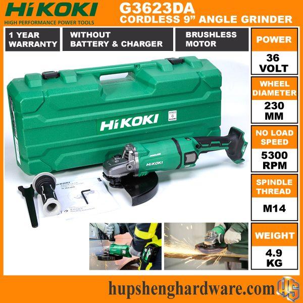 Hikoki G3623DA 9 Cordless Angle Grinder-4a