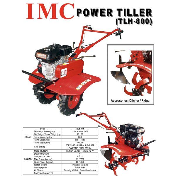 IMC TLH800 Honda Power Tiller-4