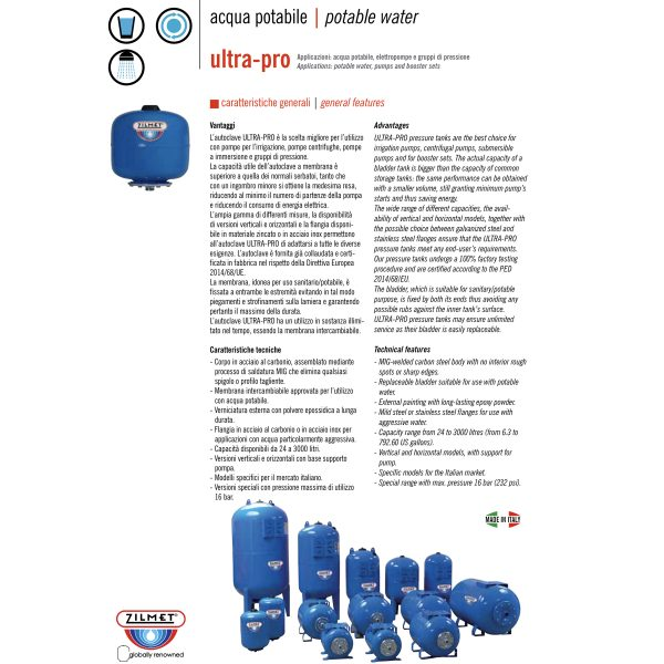 Zilmet Ultra Pro Pressure Tank-2