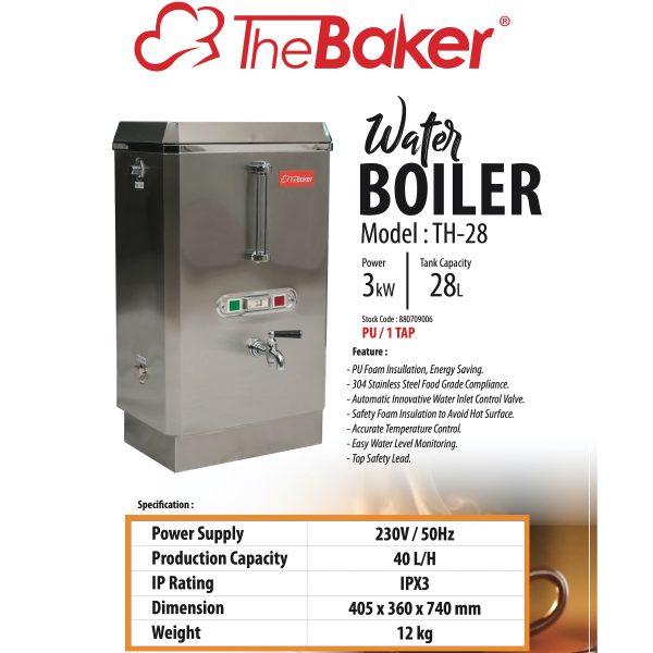 THE BAKER Water Boiler TH28-3