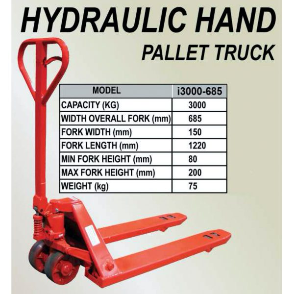 IHM Heavy Duty Hand Pallet Truck i3000-685-2