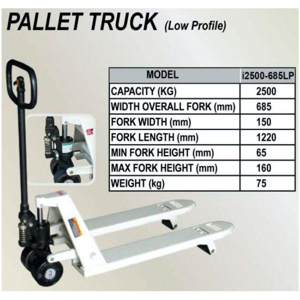 IHM i2500-685LP Low Profile Hand Pallet Truck