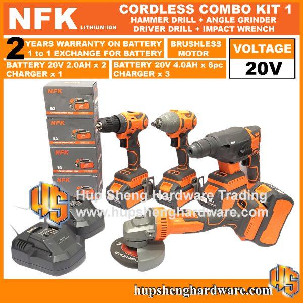 NFK Cordless Power Tools Combo Kit 1a