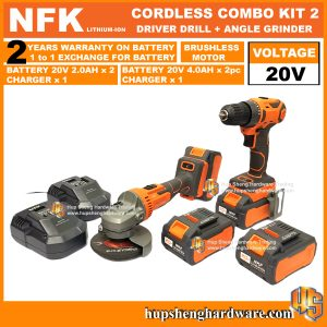 NFK Cordless Power Tools Combo Kit 2a