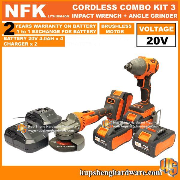 NFK Cordless Power Tools Combo Kit 3a