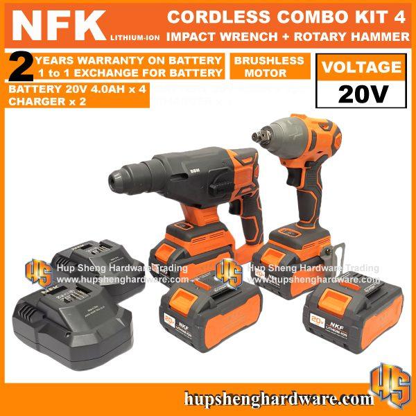 NFK Cordless Power Tools Combo Kit 4a