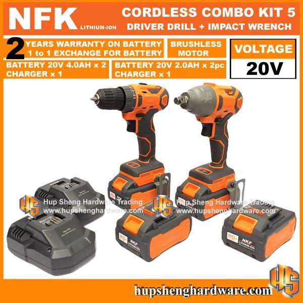 NFK Cordless Power Tools Combo Kit 5a