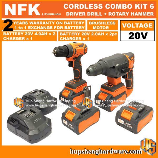 NFK Cordless Power Tools Combo Kit 6a