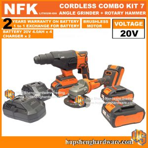 NFK Cordless Power Tools Combo Kit 7a