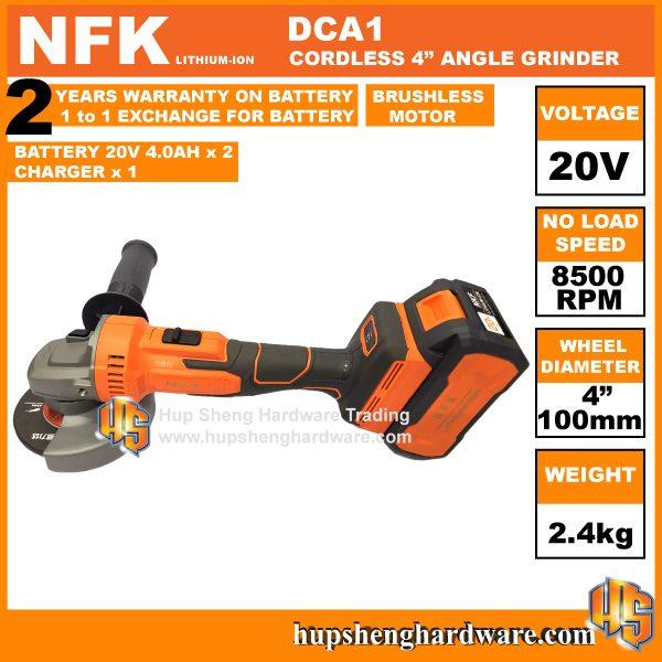 NFK DCA1-1b Cordless Angle Grinder