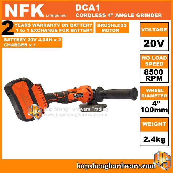 NFK DCA1-1c Cordless Angle Grinder
