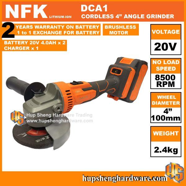 NFK DCA1-1d Cordless Angle Grinder