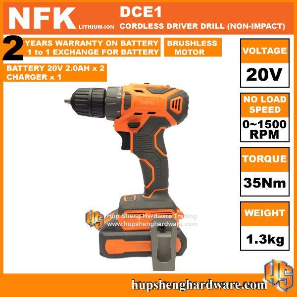 NFK DCE-1b Cordless Driver Drill