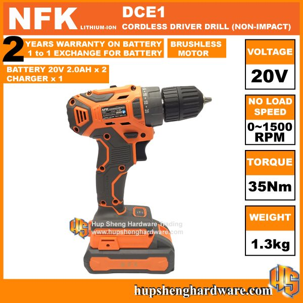NFK DCE-1c Cordless Driver Drill