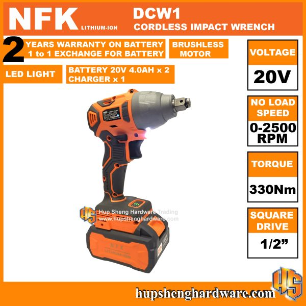 NFK DCW1-1b Cordless Impact Wrench