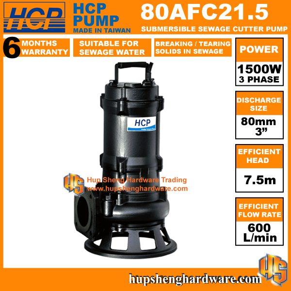 HCP 80AFC21.5 Sewage Cutter Pump-1a