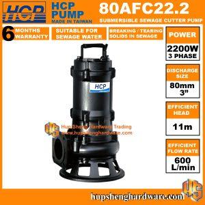 HCP 80AFC22.2 Sewage Cutter Pump-1a