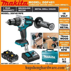 Makita DDF481RFE-2a