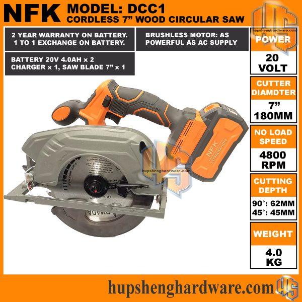 NFK Cordless Circular Saw DCC1-3