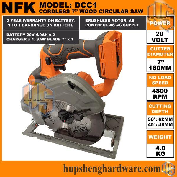 NFK Cordless Circular Saw DCC1-6